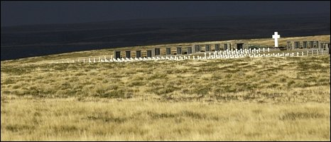Argentine cemetery near Darwin, East Falkland