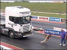 Mike Bushell hauls a truck