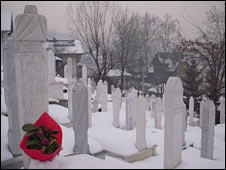 A cemetery in Sarajevo