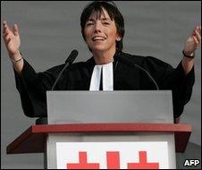 File photo of Bishop Margot Kaessmann in Hanover