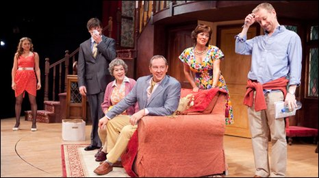 The cast of Noises Off at the New Wolsey, Ipswich