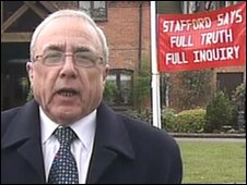 Jim Duff, husband of a Stafford Hospital patient who died in 2008