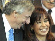 Nestor Kirchner (l) and Cristina Fernandez de Kirchner