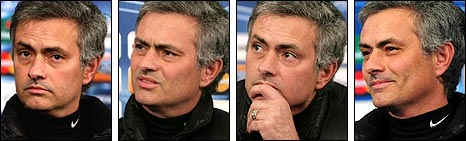 The many faces of Inter Milan manager Jose Mourinho