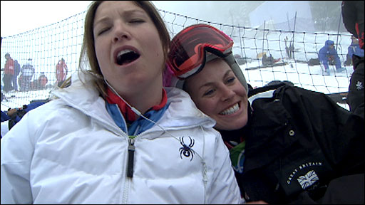 Julia Mancuso and Chemmy Alcott