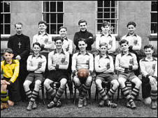 The 1951 St Joseph's football team at Pell Wall Hall