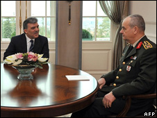 President Abdullah Gul and Chief of Staff General Ilker Basbug 