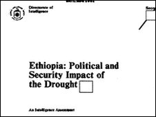 CIA report into Ethiopia aid crisis
