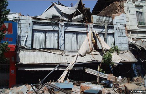 Earthquake damage, Talca, Chile