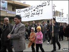 Iraqi Christians march in Hamdaniyah, near Mosul 28.02.10