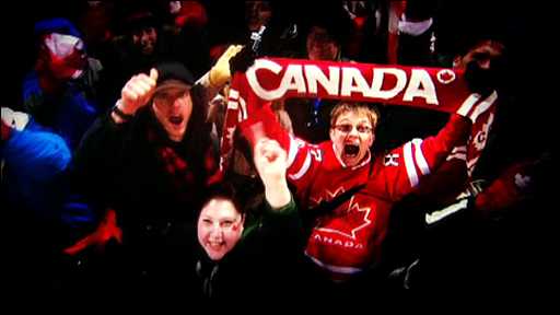 Canada fans in Vancouver