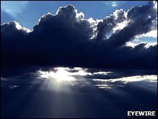 Sun shining through clouds - Copyright Eyewire