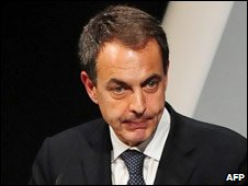 Spanish PM Jose Luis Rodriguez Zapatero. Photo: 1 March 2010