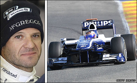 Williams driver Rubens Barrichello
