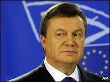 Ukrainian President Viktor Yanukovych in March 2010