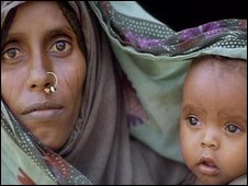 A woman, mother and her baby from Eritrea, Ethiopia