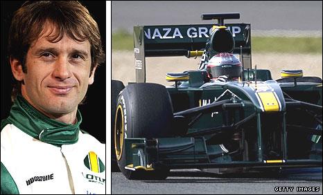 Lotus driver Jarno Trulli