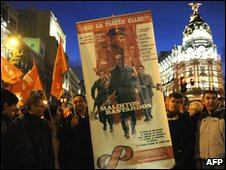 Demonstrations against plans to raise the legal retirement age from 65 to 67, Madrid