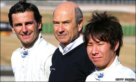 Pedro de la Rosa, Peter Sauber and Kamui Kobayashi