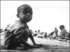 A child victim of famine