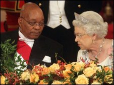 The Queen and Jacob Zuma