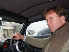 Jorn Madslien drives the Tesla Roadster in London