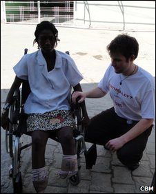 David Young working with victims of the earthquake in Haiti
