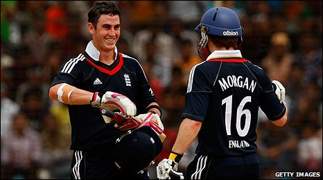 Craig Kieswetter and Eoin Morgan