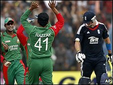Bangladesh celebrate the downfall of Kevin Pietersen