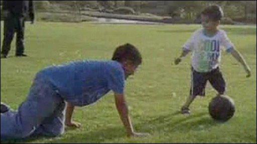 Sahil playing football