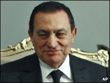 Egyptian President Hosni Mubarak (image from January 2010)