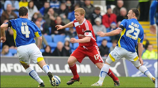 Gavin Rae (left) and Darcy Blake (right) impressed in the Cardiff midfield against Middlesbrough