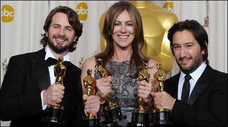 The Hurt Locker producers Mark Boal, Kathryn Bigelow and Greg Shapiro