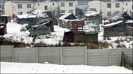 Wall in Ostrovany, in eastern Slovakia