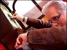 Alan Midleton ensures his clocks chime on time