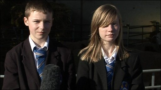 Two students from Hylands School, Chemlsford