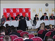 Panel during the debate