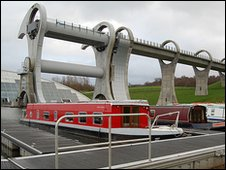 Falkirk Wheel and boats (Julie Broadfoot)