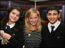 School Reporters meet Helen Skelton