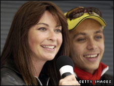 Suzi Perry and Valentino Rossi
