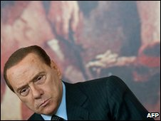 Silvio Berlusconi in Rome, 12 March 2010