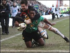 Brian Mujati scores for Northampton