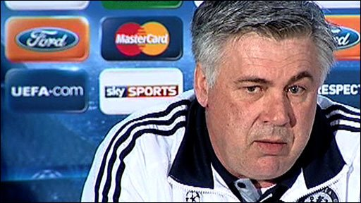 Chelsea manager Carlo Ancelotti