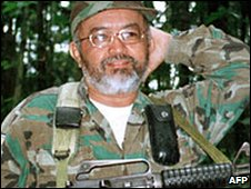 Senior Farc commander Raul Reyes, file picture