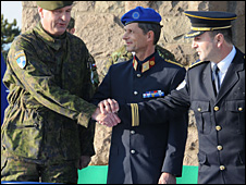 Handover of Gazimestan to Kosovo police, 18 March 2010. Photo courtesy of Nato