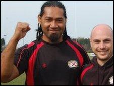 Jersey captain Talite Vaioleti and coach Ben Harvey