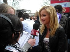 School Reporters and Helen Skelton