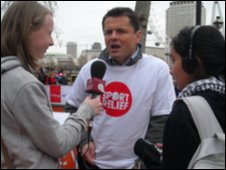 School Reporters and  Chris Hollins