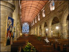 The interior of Holy Trinity Church, St Andrews