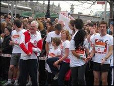 Sport relief participants